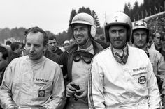 John Surtees, Jo Bonnier, Jack Brabham and Jo Siffert, Belgium '65