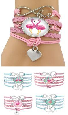 Women's Pink Flamingo Design Layered Bracelet Flamingo Gifts, Flamingo Decor, Pink Flamingos, Flamingo Outfit, Pink Bird, Layered Bracelets, My Spirit Animal, Artisanal, Pink Fashion