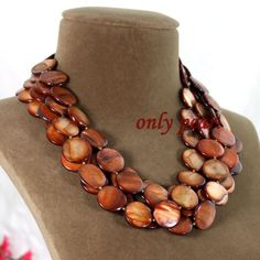 Free Shipping Shell Necklace Statement Necklace by OnlyPearl