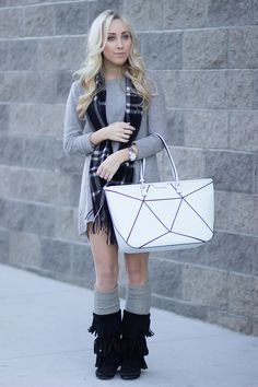 Henri Bendel Pieced Tote // Minnetonka Shoes