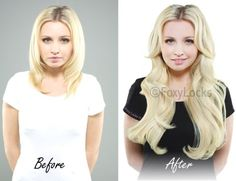 Before & After Gallery - Foxy Locks Ltd Official Site / Remy Clip In Human Hair Extensions / The No.1 Choice For Hair Extensions / Celebrity Accessories / Thickest Extensions On The Market