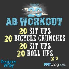Ab Workout for 6 pack!