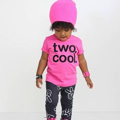 TWO. COOL. Birthday Shirt AND Leggings Toddler Boy Girl