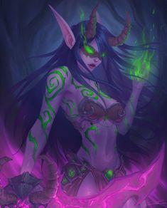 Night Elf Demon Hunter by ArtJake on DeviantArt Warcraft Art, World Of Warcraft, Fantasy World, Fantasy Art, Fantasy Drawings, Elf Art, Gamers Anime, Night Elf, Demon Hunter