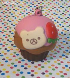 kawaii squishies for sale   Rilakkuma Cupcake Squishy Kawaii Squishies Pink   eBay
