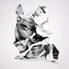 Surreal and photorealistic wax pencil drawings by Christina Empedocles.