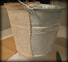 {Mod Podge Madness}: How to Decoupage a Galvanized Pail With Fabric - Simplicity in the South Galvanized Buckets, Galvanized Metal, Fun Easy Crafts, Cute Crafts, Diy Crafts, Decoupage, Mod Podge Crafts, Crafty Craft, Crafting