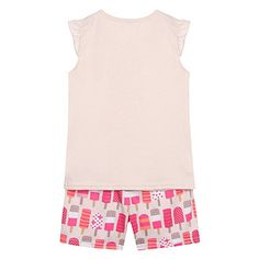bluezoo Girl's light pink ice lolly print pyjama set- at Debenhams.com
