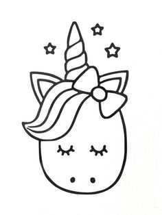 Cute Unicorn Coloring Pages New Cute Cartoon Unicorn Vinyl Decal Sticker Various Colours Unicorn Coloring Pages, Cute Coloring Pages, Mermaid Coloring, Coloring Pages To Print, Free Coloring, Coloring Books, Coloring Sheets, Adult Coloring, Unicorn Drawing