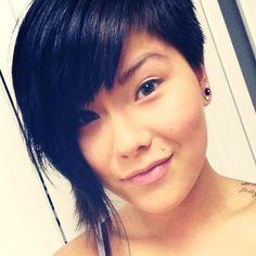 Short Asymmetrical hair