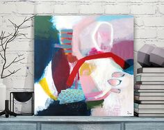 Original XL abstrakt Acryl Arbeiten der bildenden Kunst große