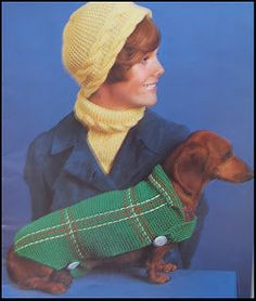 Dachshund sweater crochet pattern