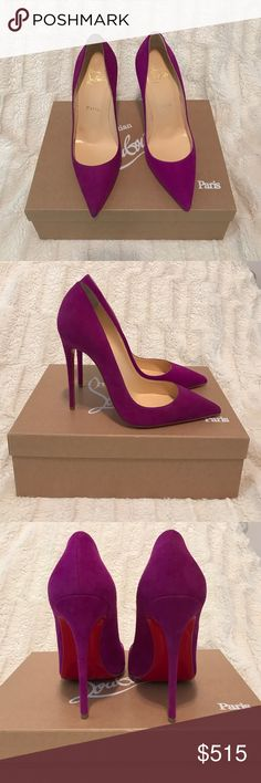 Christian Louboutin So Kate 120 Suede 100% Authentic Beautiful Christian Louboutin So Kate Purple Pumps. Comes with 2 dust bags. Never worn. Christian Louboutin Shoes Heels