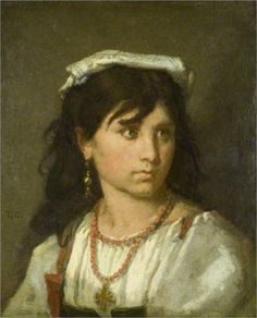 1877 Young Italian Girl Thomas Couture