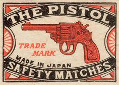The Pistol #matchbox #label
