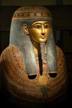 The Golden Face of Panehsy prophet of Amenhotep during the reign of Ramesses II.