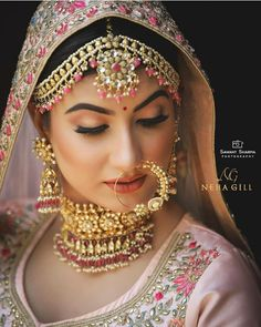 What's a bride without the nose ring right? Curated some nose stunners here for you. Tag your girl friends who think nose rings are sexy… Indian Wedding Makeup, Indian Wedding Bride, Indian Bridal Outfits, Indian Bridal Fashion, Indian Makeup, Punjabi Wedding, Bridal Makeup Looks, Bridal Looks, Bridal Style