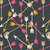 Arrows - Scattered on Navy by papersparrow
