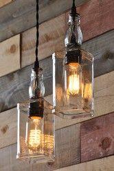 Whiskey Bottles Pulley Pendant Lighting Pendant & Chandelier Lighting