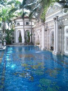 the Pool at Casa Casauarina, the South Beach Mansion that belonged to Gianni Versace