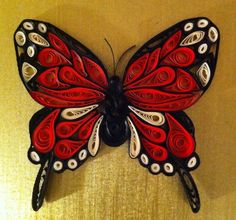 Quilling Monarch butterfly