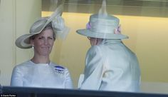June 18, 2014: Sophie, Countess of Wessex joined her mother-in-law to watch the races on Day 2 at Royal Ascot.
