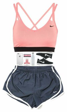 """""""just ran for 30 mins then lifted weights for 30 more❤️"""" by nc-preppy-living. """"just ran for 30 mins then lifted weights for 30 more❤️"""" by nc-preppy-living ❤️ liked o Teen Fashion Outfits, Teenage Outfits, Nike Outfits, Swag Outfits, Dance Outfits, Sport Outfits, Trendy Outfits, Fashion Models, Summer Outfits"""