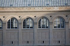 SAINTE-GENEVIÈVE LIBRARY, PARIS Designed by Henri Labrouste, 1851, the Sainte-Genevieve Library inherited the prized collections of the sixt-century Abbey de Sainte-Genevieve. The two-story facade bears the names of 810 great figures.