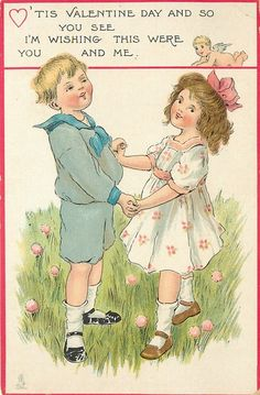 Vintage Valentine Cards from 1914 Alenquerensis