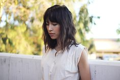 Medium length hair w/bangs - it would be nice if mine would look like this!