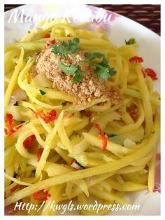 Thai Mango Salad (Kerabu Mangga) #guaishushu #kenneth_goh    #kerabu_mangga  #Thai_mango_salad