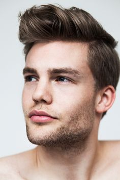 Mens Hair and Scruffy Beard.