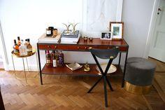 Wood, Velvet, Brass, Leather