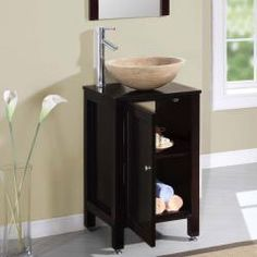 @Overstock.com - This stone vessel sink is the perfect addition to any bathroom.  The natural stone gives off a warm feel while the solid wood structure keeps it on a pedastal. http://www.overstock.com/Home-Garden/Silkroad-Exclusive-Modern-Bathroom-Stone-Vessel-Vanity-Lavatory-Single-Sink-Cabinet-19-inch/6304580/product.html?CID=214117 $729.99