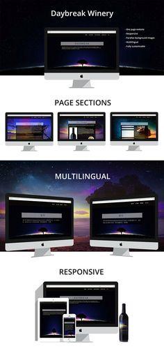 """One page parallax responsive website"" by vrinda maru on @behance: https://www.behance.net/gallery/34571961/One-page-parallax-responsive-website"