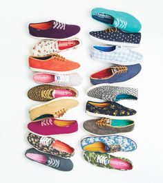 colorful keds! comfy and practical. HATE BALLET FLATS SO THIS IS MY FLAT