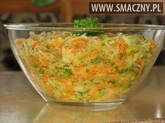 Surówka z kiszonej kapusty i pora Raw Food Recipes, Salad Recipes, Cooking Recipes, Healthy Recipes, Crudite, Good Food, Yummy Food, Vegan Lunches, Polish Recipes