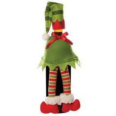 Elf Wine bottle outfit - felt, great for a hostess gift!