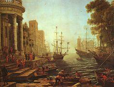 Embarkation of Ursula Claude Lorrain