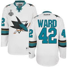 San Jose Sharks #42 Joel Ward White 2016 Stanley Cup Away NHL Finals Patch Jersey
