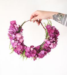 DIY flower crown by @Christina & Kahler Lidy Blog + @Rachel Smith | The Crafted Life | http://skl.sh/Tn8lPz