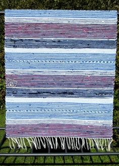 Uusi räsymatto 83x315 cm Rag Rugs, Tear, Recycled Fabric, Woven Rug, Scandinavian Style, Pattern Design, Weaving, Inspiration, Rug Weaves