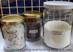 Von Tag zu Tag - Maries Blog: Lavendelzucker und Vanillezucker - selbstgemacht