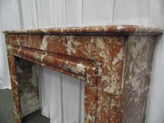 Louis XVI style marbre fireplace red - Fireplaces - Architecturals - Nord Antique