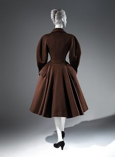 """Cossack""  Designer:Charles James (American, born Great Britain, 1906–1978) Date:1952 Culture:American Medium:wool Credit Line:Brooklyn Museum Costume Collection at The Metropolitan Museum of Art, Gift of the Brooklyn Museum, 2009; Gift of Muriel Bultman Francis, 1966 Accession Number:2009.300.402"