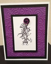 Disney Nightmare Before Christmas Lock, Shock & Barrel greeting card purple