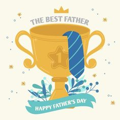 The best father golden cup prize | Free Vector #Freepik #freevector #love #design #family #celebration Happy Fathers Day Greetings, Father's Day Greetings, Birthday Greetings, Father's Day Stickers, Father's Day Celebration, Gifts For Hubby, Daddy Day, Graphic Design Templates, Fathers Day Crafts