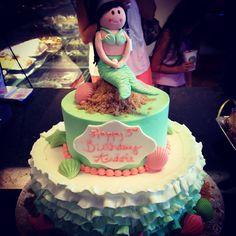 A little mermaid birthday cake