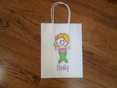 Personalized Mermaid Party favor bags
