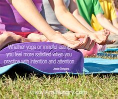 Whether you are practicing yoga or mindful eating, there are times when it will come naturally and times when it is challenging. #NationalYogaMonth